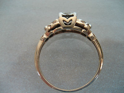 Vintage / Antique 14K Yellow & White Gold Diamond Engagement Ring