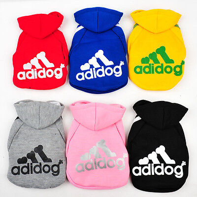 Adidog Dog Puppy Small Breed Sweater Hoodie Jumper Clothing Jacket New Fashion