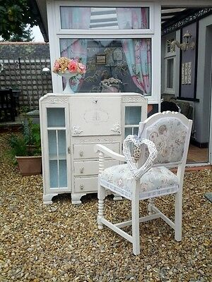 Stunning, one of, unique bureau and gorgeous chair. French country/ Shabby chic