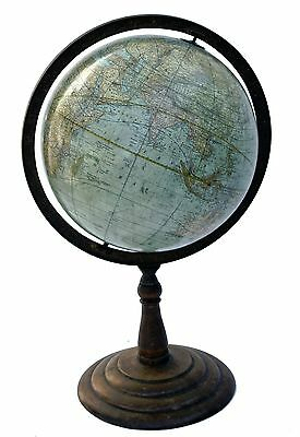 "12 "" Terrestrial  Antique  Table Globe  Rand Mc Nally 1890"