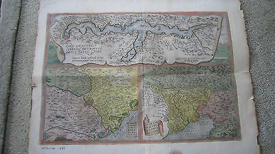 SUPERB Antique Map / ROME ITALY w LATIN INSCRIPTIONS / From 16th Century Book /