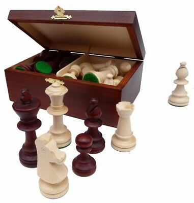 Chess figures of wood Staunton Nr 5 in Wooden box