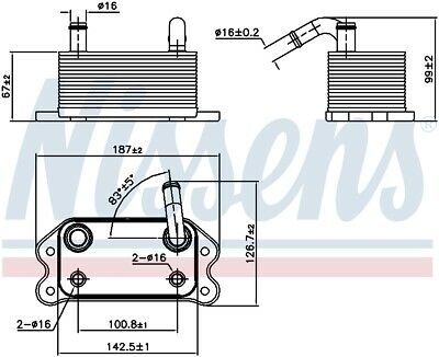 NISSENS Oil Cooler OE Quality - 90779