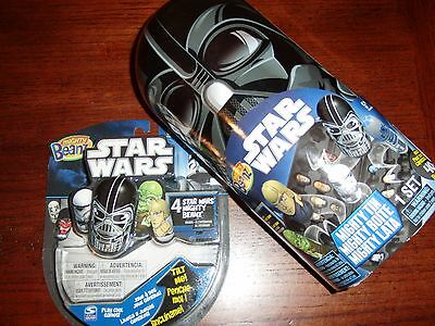 Star Wars Mighty Beanz Darth Vader Collector Tin with Random Might Beanz 4 Pack
