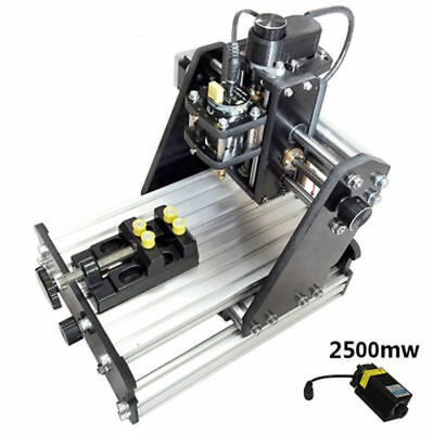 Mini Milling Engraving Machine 3 Axis Carving Engraver +2500mw laser head