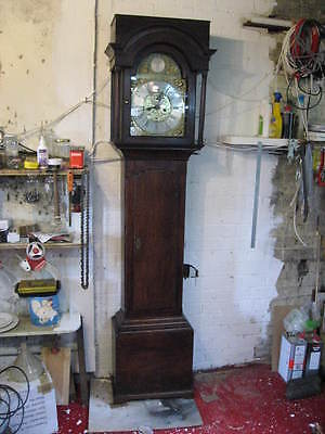 Rare Oak Longcase - Grandfather Clock Circa 1760 By Edward Barlow Oldham 3789