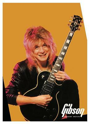 Randy Rhoads **LARGE POSTER** Gibson Les Paul Guitar Promo ad OZZY OSBOURNE