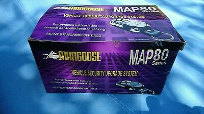 Mongoose MAP80s 4 Star car alarm 'upgrade' with 2 stage shock sensor