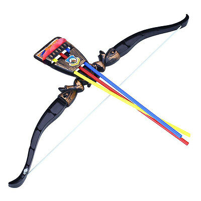Child Archery Bow and 3 Arrows Suckers Garden Outdoor Sports Shooting Toys