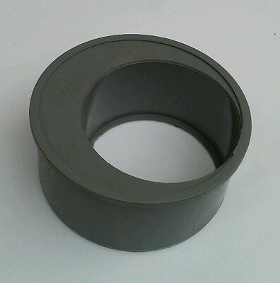 110mm-82mm pushfit/Solvent weld Reducer soilpipe drain koi pond 4inch/3inch GREY