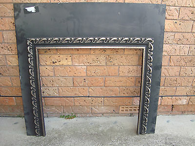 FIREPLACE METAL FASCIA/SURROUND 99CM X 96CM, PICK UP 2766 Rooty Hill nsw