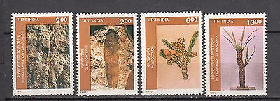 India 1997 MNH Set of Institute of Palaeobotany, Lucknow Fossils Stamps