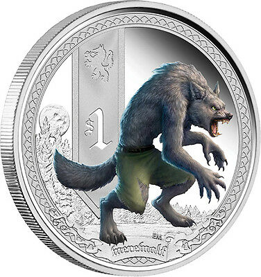 2013 Mythical Creatures Werewolf 1oz Silver Proof Coin