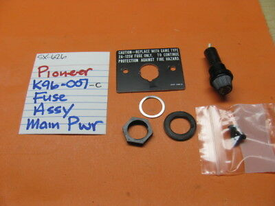 Pioneer K96-007-C Fuse Socket Sx-626 Socket Nuts Washers Id Plate Included