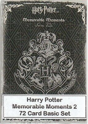 Harry Potter Memorable Moments Series 2 - 72 Card Basic/Base Set - Artbox 2009