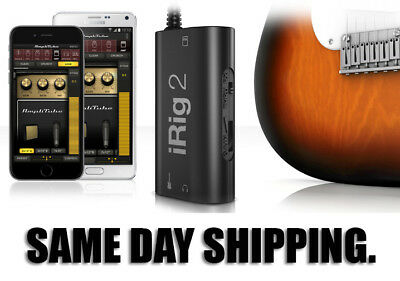 IK Multimedia iRig 2 Guitar to Mobile Recording Interface. Same Day Shipping!