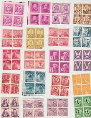 1 - lot of 49 Mint (NO GUM) block of 4 USA stamps (2016-287)