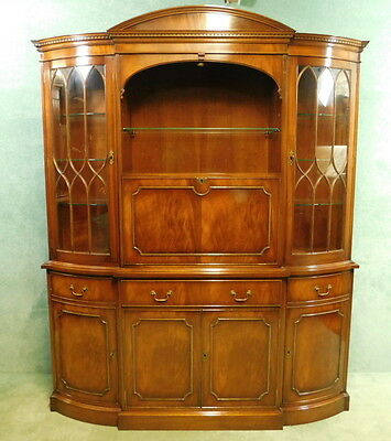 Reprodux Bevan Funnell Mahogany Display - Cocktail Drinks Cabinet