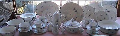 56 Pcs Villeroy & Boch Luxembourg Dinner Set +Many Serving Pieces Blue Floral