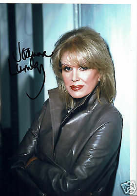 Joanna Lumley Actress New Avengers Hand signed photograph 12 x 9  Inches