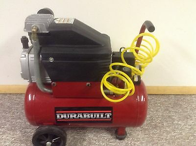 Durabuilt 6 gallon horizontal electric air compressor single stage