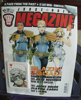 2000AD Judge Dread Megazine Meg 230 with Free Playing Cards Gift Attached