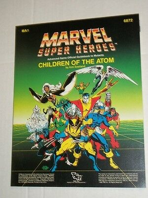 TSR Marvel Super Heroes CHILDREN OF THE ATOM MA1 6872 Mutant Game Guidebook