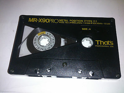 That's Audio MR-X90 PRO Audio Cassette Tape  Metal Tape-Very High Quality