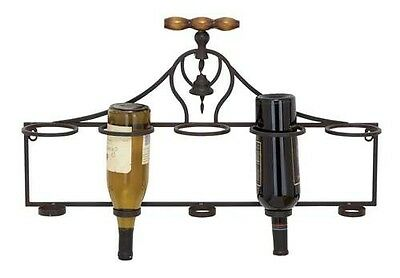 Woodland Import 55481 Wall Wine Rack with Minimalistic Style and Dark Finish. De