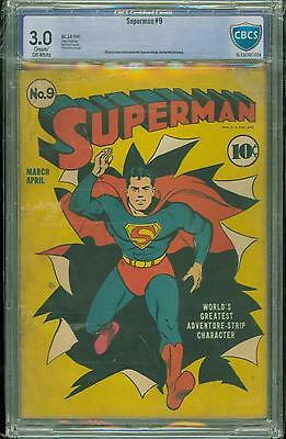Superman #9 [1941] Certified[3.0] Classic Cover