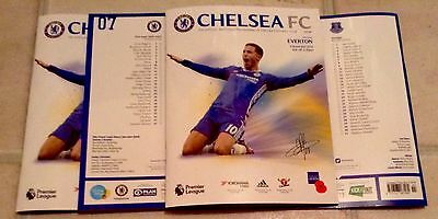 CHELSEA V EVERTON OFFICIAL MATCH PROGRAMME. New& Unused. 2016/17