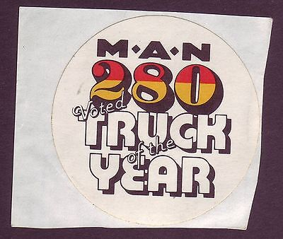 Vintage Original 70s/80s MAN 280 Truck of the year toolbox sticker