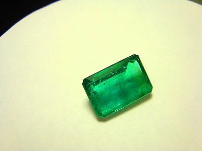 Gia Certified, Natural Emerald 8.32 Ct. Size 15.45 X 10.29 X 6.28Mm!