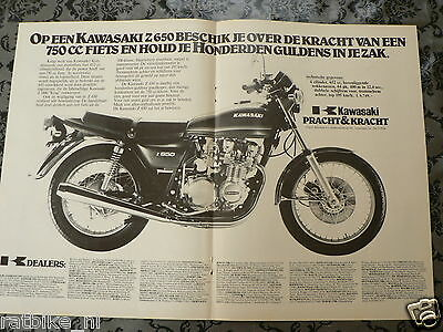 A155- Kawasaki Z650 1978 Poster Advertisement Add Motorcycle