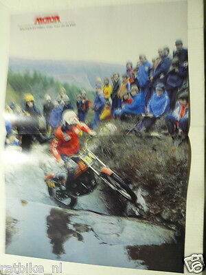 A285- Malcolm Rathmell Montesa No 134 Trial Moto Poster Off-Road 1980