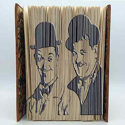 Book Folding Pattern - Mark Measure Cut & Fold - Laurel and Hardy