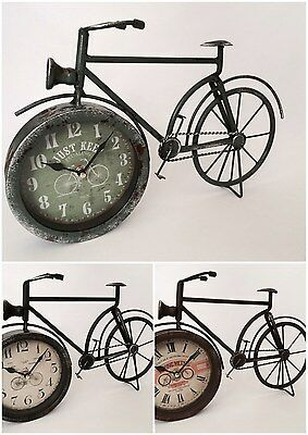 Retro Design Bicycle Clock Metal Vintage Style Novelty Christmas Gift 3 Colours