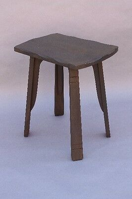 1930s Simple Monterey Period Lamp Table Rustic Vintage Wood Furniture (9731)
