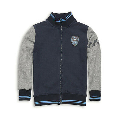NEW DUCATI Retro Sweatshirt SIZE 8-10 KIDS Navy/Grey