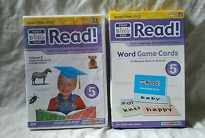 Your Baby can Read Word Game Cards & Volume 5 DVD Early Learning