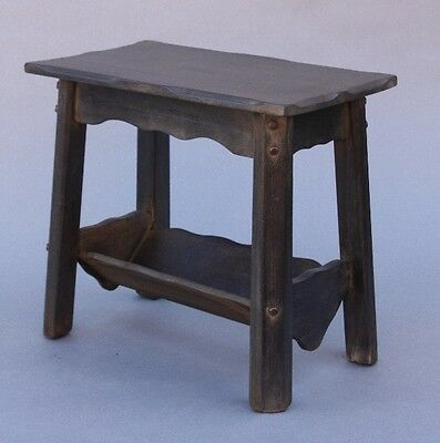 1930s Rancho Monterey Period Antique Book Table w Magazine Rack (9723)
