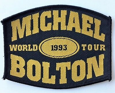 Michael Bolton World Tour 1993 Embroidered Patch