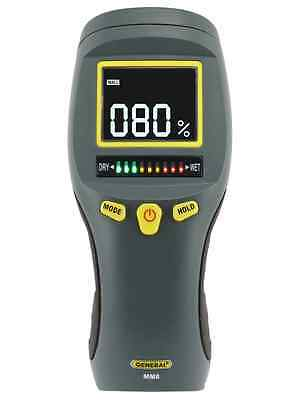General Tools MM8 Pinless LCD Moisture Meter with Tricolor Bar Graph