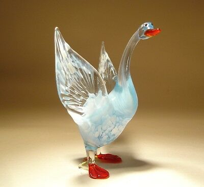 "Blown Glass Figurine  ""Murano"" Art Bird White GOOSE"