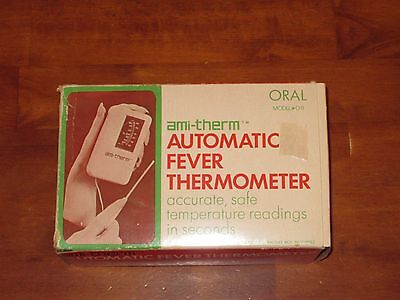 Vintage ami-therm Automatic Fever Thermometer Model 011