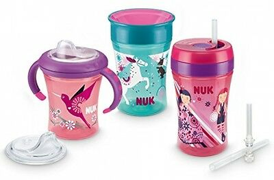 NUK 10225114 Learning To Drink Set With 1x Each Of Starter, Magic And Fun Cup,