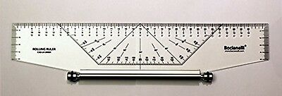 35cm 350mm Professional Metric Parallel Rolling Ruler - Technical Drawing Art