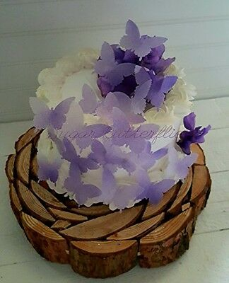 Sugar Butterflies Edible Butterfly Violet Swallowtail Cake Decorations Cupcake