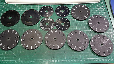 Numbered Counting Dials For Potentiometer Or Rotary Switches