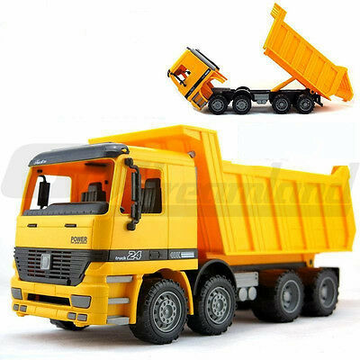 1:32 Scale Large Yellow Dump Truck Construction Kids Toy